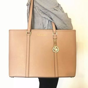 NWT Micheal Kors leather Sady tech friendly tote